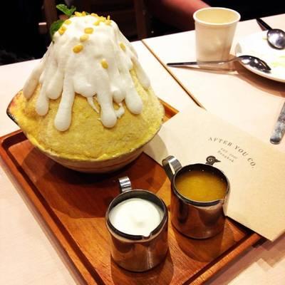 mango sticky rice kakigori ที่ ร้านอาหาร After You Dessert Cafe เจ อเวนิว