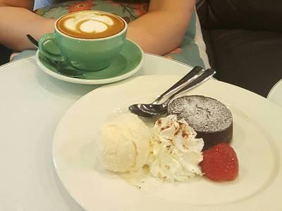 Brown Butter Chocolate Lava ที่ ร้านอาหาร Caffe Undici