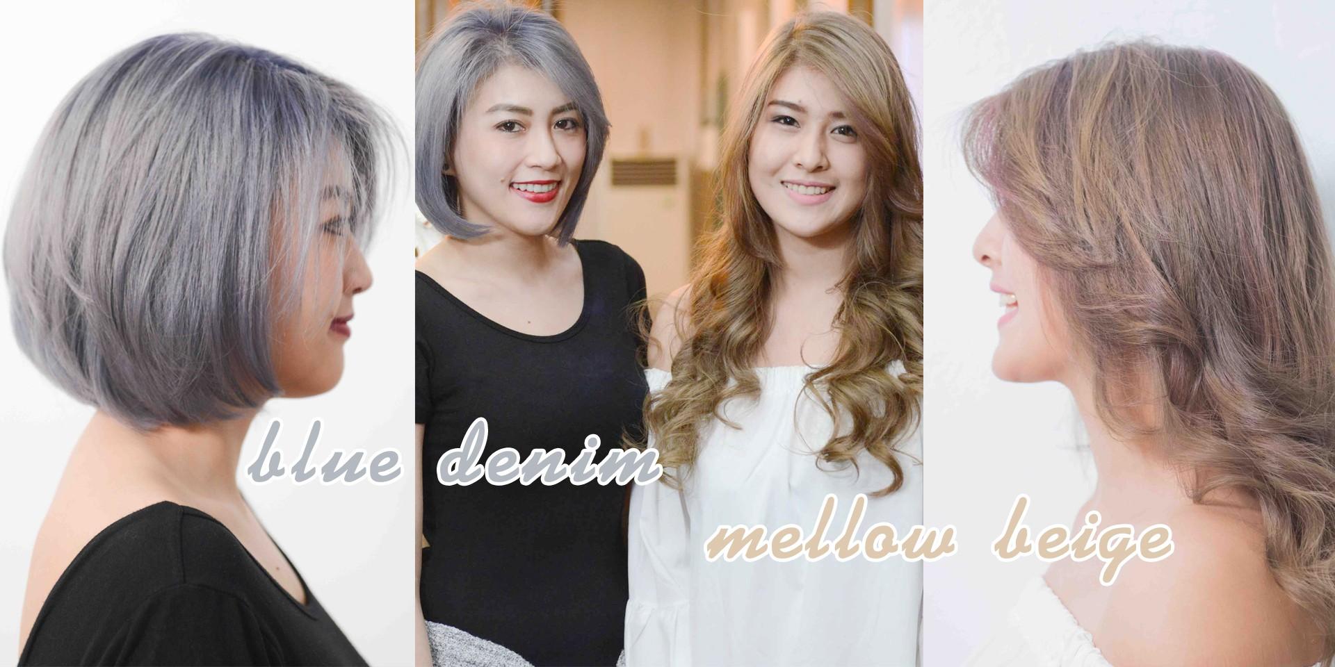 รีวิวสีผมสวยสุดโกลว! กับสี Mellow Beige & Blue Denim