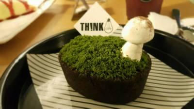 green tea custard tart เข้มข้นมากๆ ที่ ร้านอาหาร Think Cafe @ THE BLOC เดอะบล็อค (The Bloc ราชพฤกษ์)
