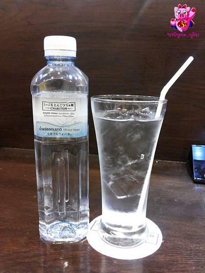 น้ำเปล่า ที่ ร้านอาหาร Chabuton สยามพารากอน