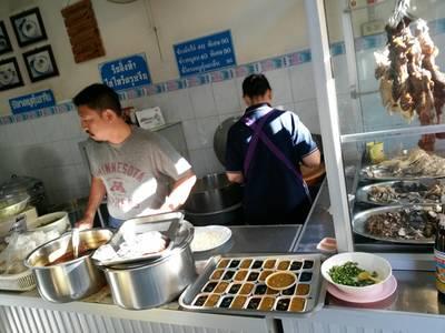 หน้าร้าน ที่ ร้านอาหาร ข้าวมันไก่โกจิว