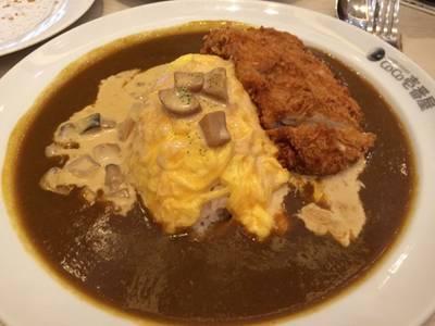 ข้าวแกงกะหรี่ไข่ครีมเห็ด เพิ่มท็อปปิ้งหมูทอด ที่ ร้านอาหาร Coco Ichibanya สยามพารากอน