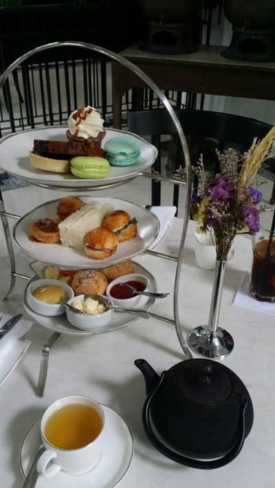 Afternoon Tea Set for 1 • บรรยากาศสวยๆ สบายๆ จิบชายามบ่าย ที่ ร้านอาหาร Cafe Cha โรงแรม เดอะ สยาม