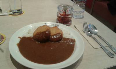 ข้าวแกงกะหรี่โครอคเกะครีมแซลม่อน ที่ ร้านอาหาร Coco Ichibanya สยามพารากอน