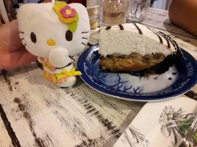 kittyขอกินpie banoffeeหน่อยน้าาาาา....  ที่ ร้านอาหาร Bake Me Tender