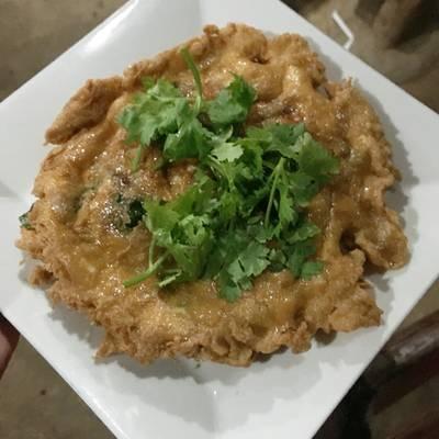 ไข่เจียวตำลึง ที่ ร้านอาหาร ครัวธรรมชาติ กาญจนบุรี