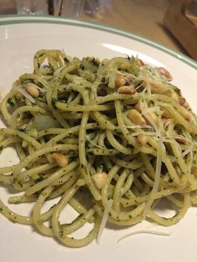 Pasta W Pesto Sauce 135฿ ที่ ร้านอาหาร Bake Me Tender