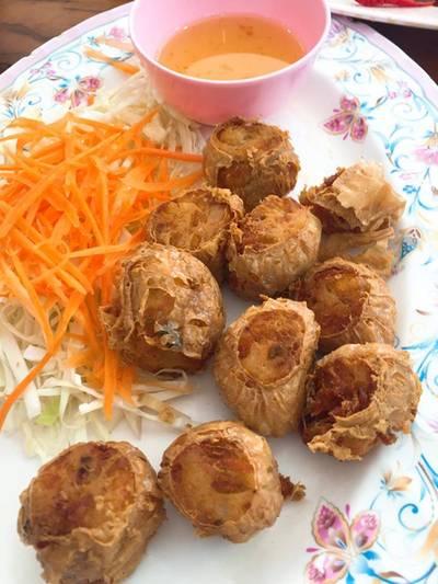 หอยจ๊อปู ที่ ร้านอาหาร แดงอาหารทะเล (เจ้าเก่า)