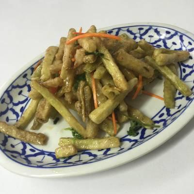 มะเขือเฟรนฟราย ที่ ร้านอาหาร เกี๊ยวจีน (ภัตตาคารซันมูน)