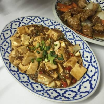 เต้าหู้ทรงเครื่อง ที่ ร้านอาหาร เกี๊ยวจีน (ภัตตาคารซันมูน)