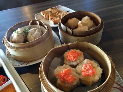 ขนมจีบกุ้งลูกโตไส้แน่น อร่อยค่ะ ที่ ร้านอาหาร Hong Kong Fisherman Restaurant Impact Hall 8
