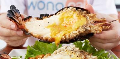 กุ้งเผาตัวใหญ่ อาหารไทย-นานาชาติรสจัดจ้าน ที่ Ben Seafood พัทยา