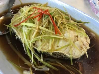 ปลาหิมะนึ่งซีอิ๊ว ที่ ร้านอาหาร ศรทองโภชนา พระราม 4