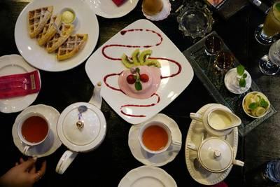 ชาและขนม ที่ ร้านอาหาร Vieng Joom On Tea House เชียงใหม่
