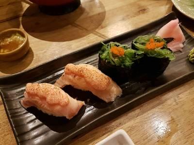 ☆☆สาหร่ายเหม็นเขียวมากๆ ☆☆☆☆แซลม่อนเมนไตโกะอร่อย ที่ ร้านอาหาร Uomasa ทองหล่อ