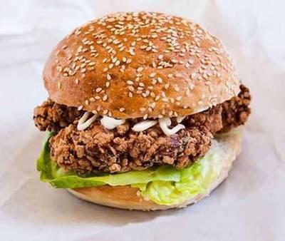 เบอร์เกอร์ไก่การาเกะ • image ที่ ร้านอาหาร Muso Yakiniku & Shabu