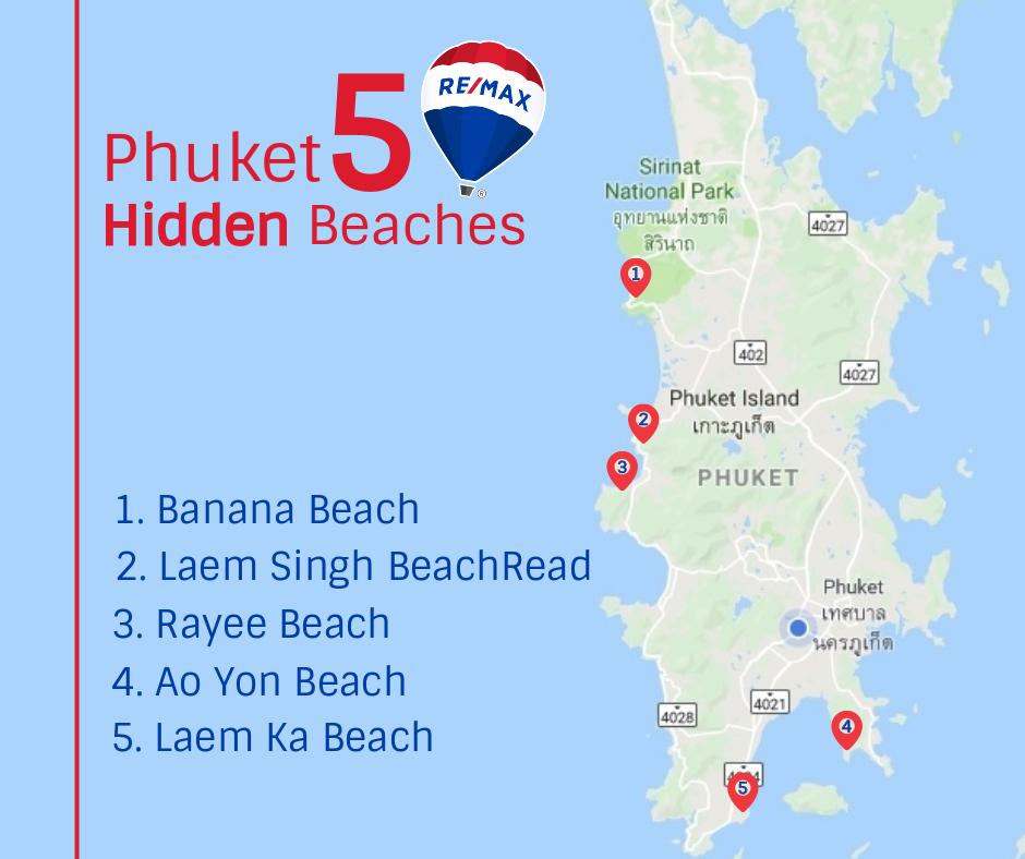 Phuket 5 hidden beaches, Remax Phuket, properties Phuket