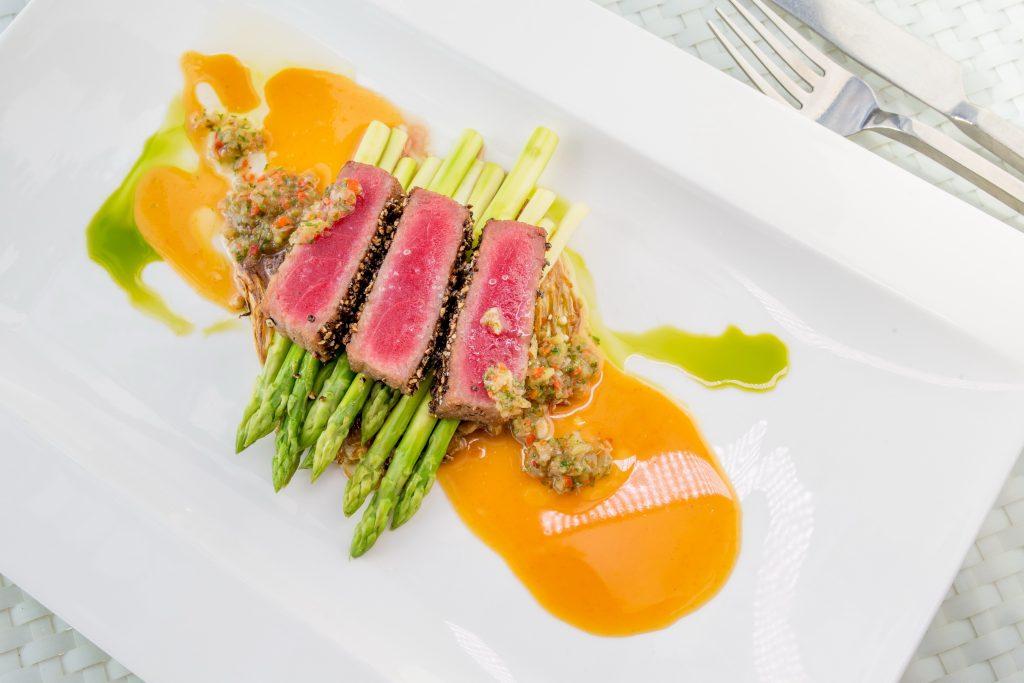 Sushi Grade Yellow Fin Ahi Tuna, Remax recommended restaurant - Joe's Downstairs, Patong Restaurant, Phuket, Thailand