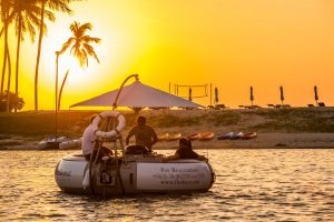 Remax recommended restaurant - The Floating Donut, Sunset on the boat