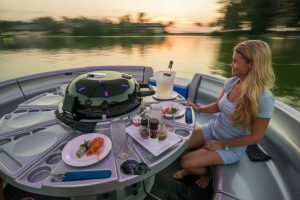 Remax recommended restaurant - The Floating Donut, Sunset View on boat