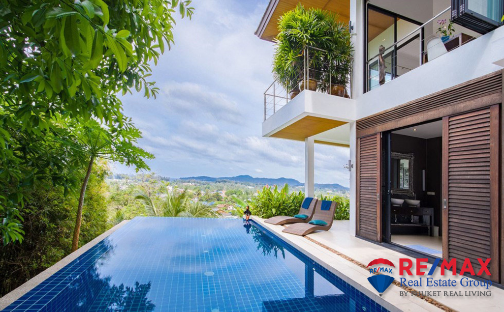 5 BEDROOMS MODERN THAI STYLE SEAVIEW VILLA FOR SALE IN BANGTAO