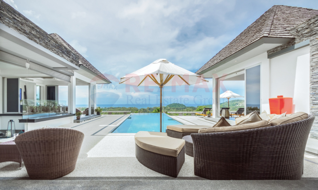Luxury Pool Villa Overlooking Bangtao Bay for Sale