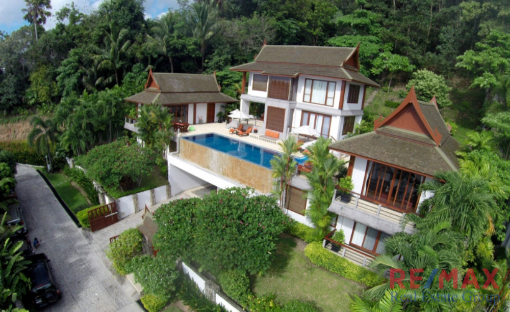 Balinese Style Ocean View Luxury Pool Villa in Surin for Sale