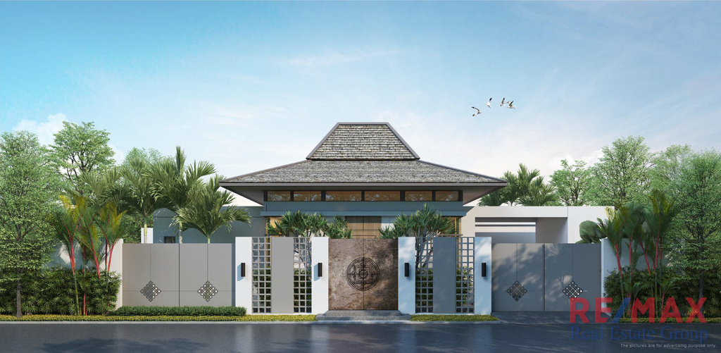 Modern-Balinese Pool Villa in Choeng Thale