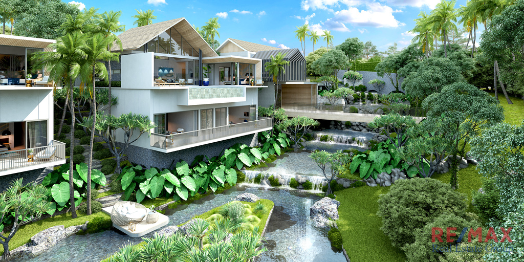 Mountain Lake Side Villa Development for Sale in Thalang, Phuket