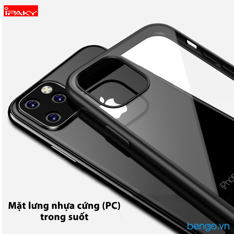 Ốp lưng iPhone 11 Pro IPAKY trong suốt viền nhựa dẻo
