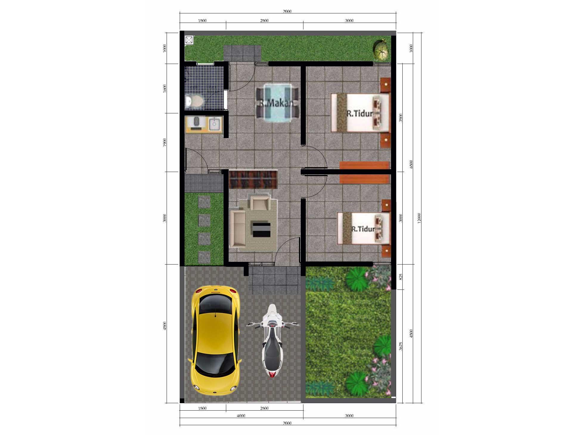 Bumi Indah City Cluster Pesona Parahyangan Tipe Akasia Floorplan