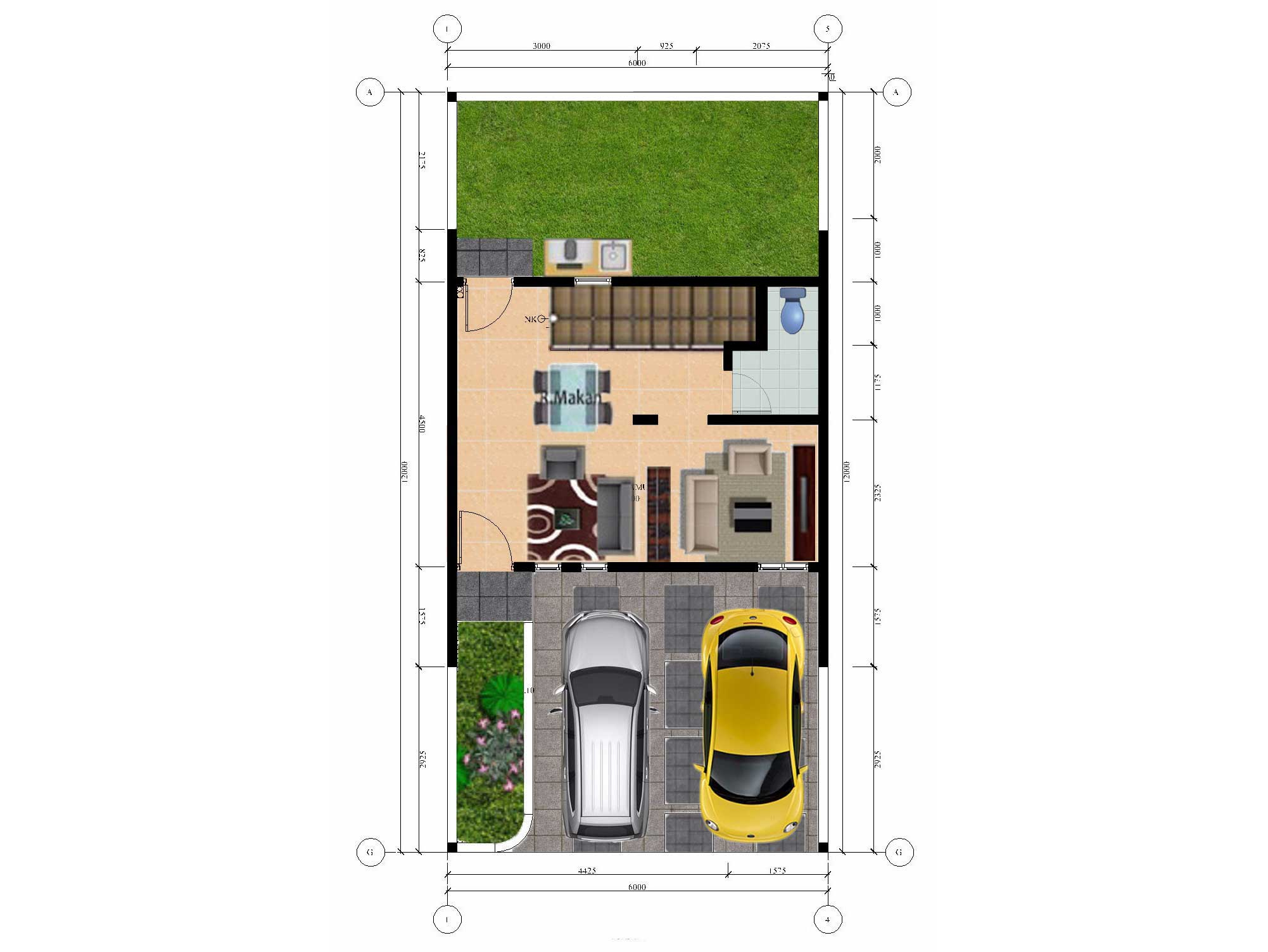Bumi Indah City Cluster Extention Tipe Townhouse Floorplan 1