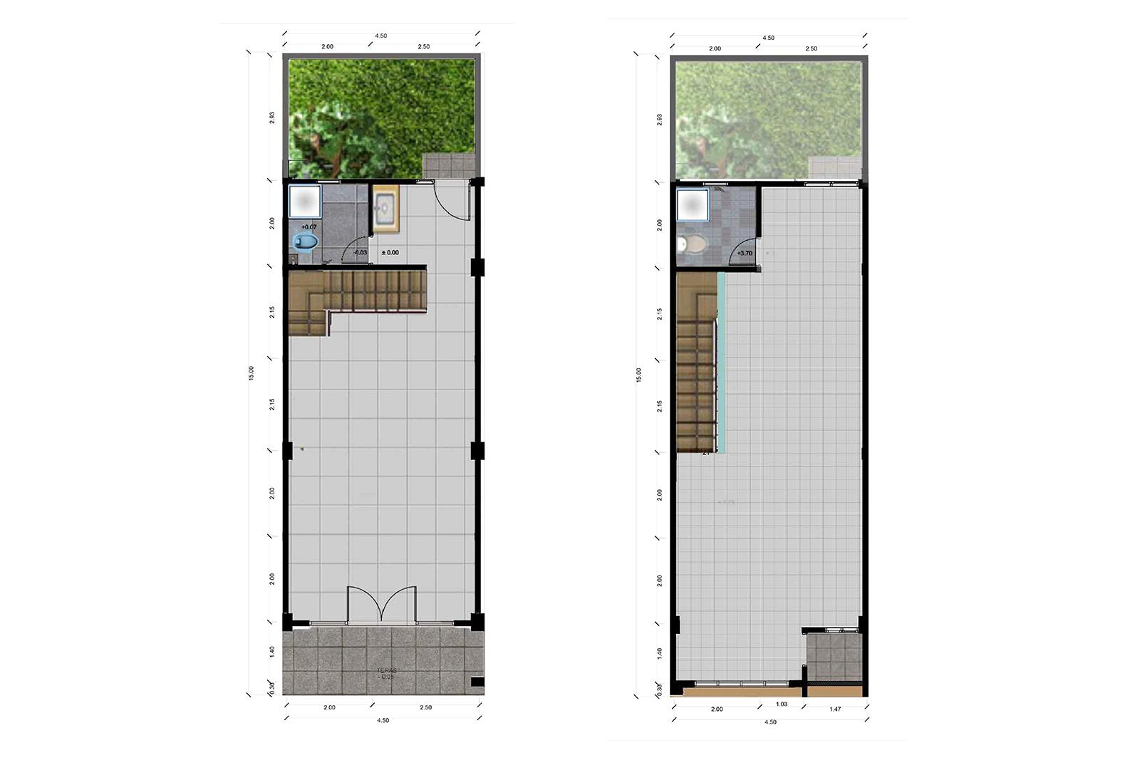 Bumi Indah City Ruko Tipe Union Floorplan