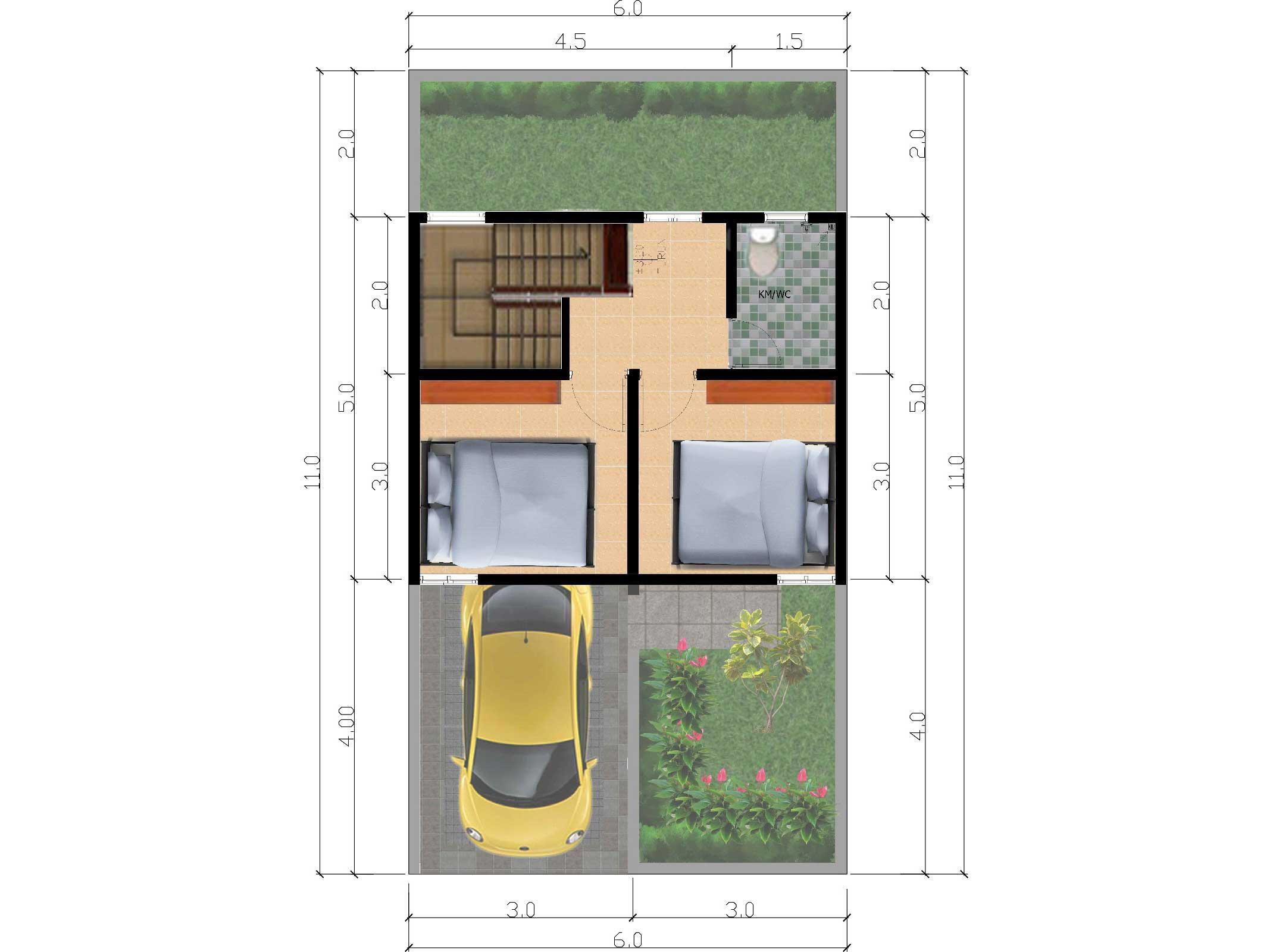 Bumi Indah City Cluster Victoria Tipe Amarilis Floorplan 2