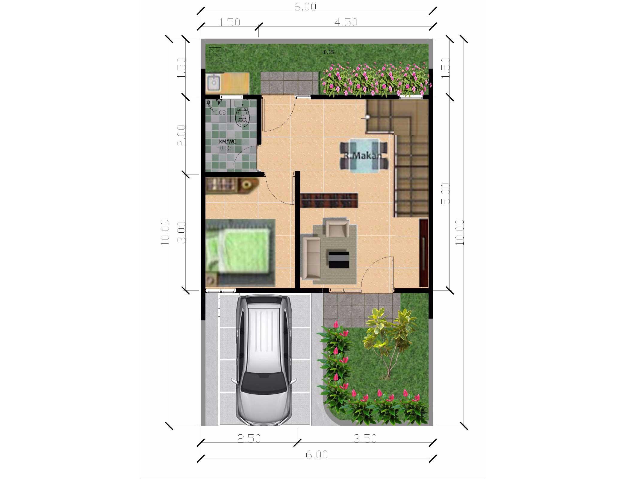 Bumi Indah City Cluster Victoria Tipe Azalea Floorplan