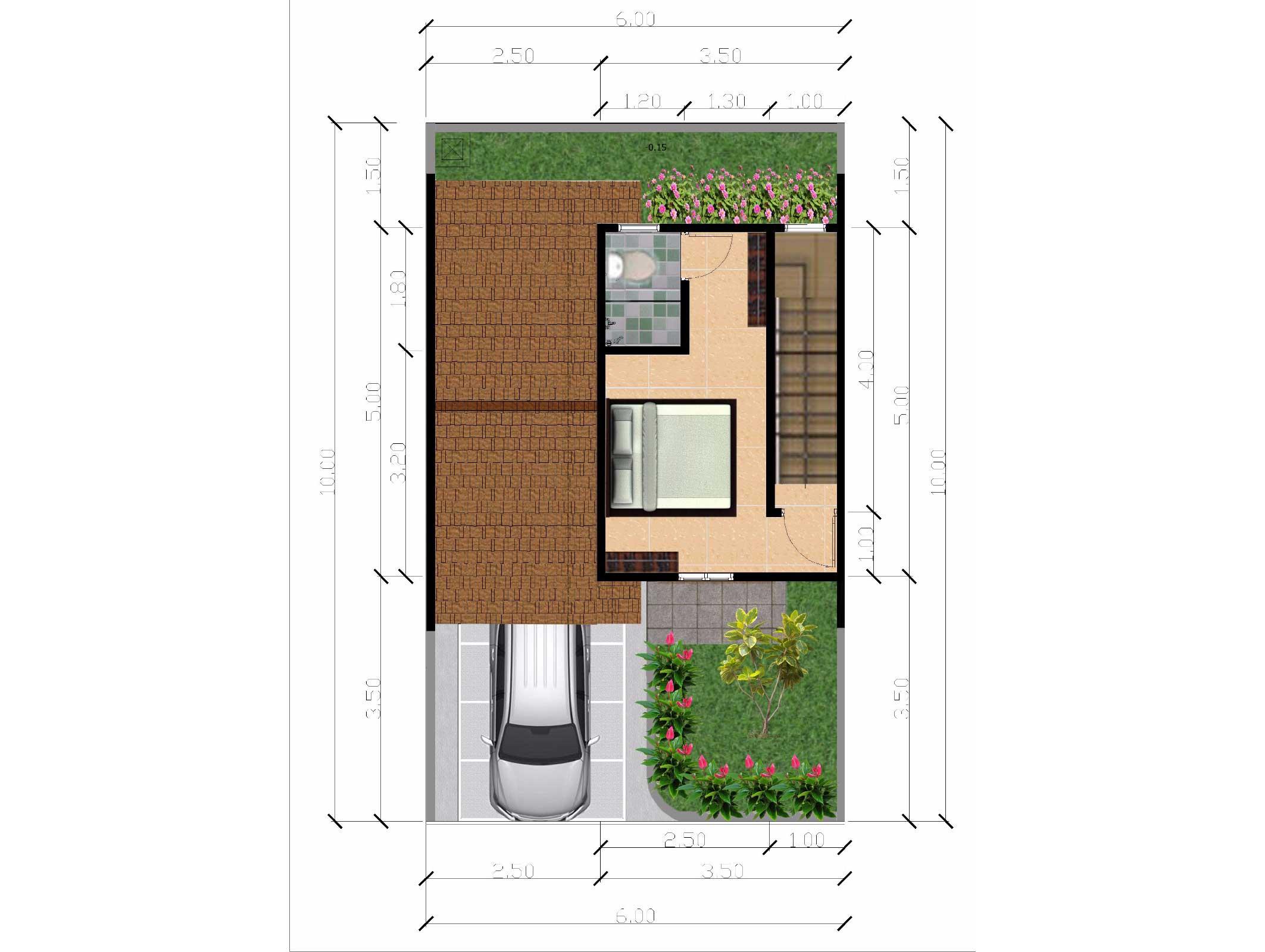 Bumi Indah City Cluster Victoria Tipe Azalea Floorplan 2