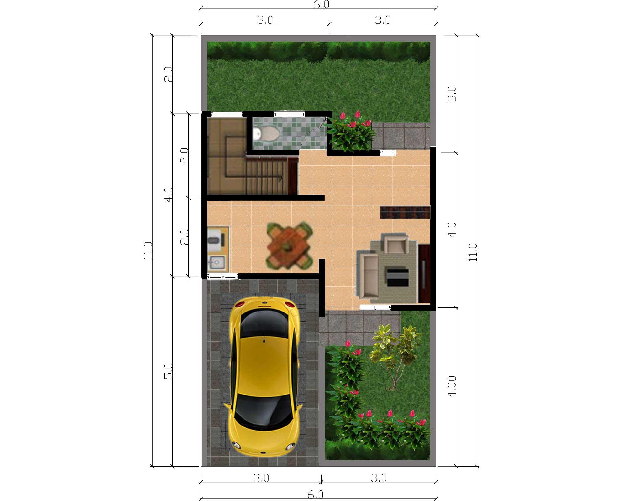 Bumi Indah City Cluster Victoria Tipe Amarilis Floorplan