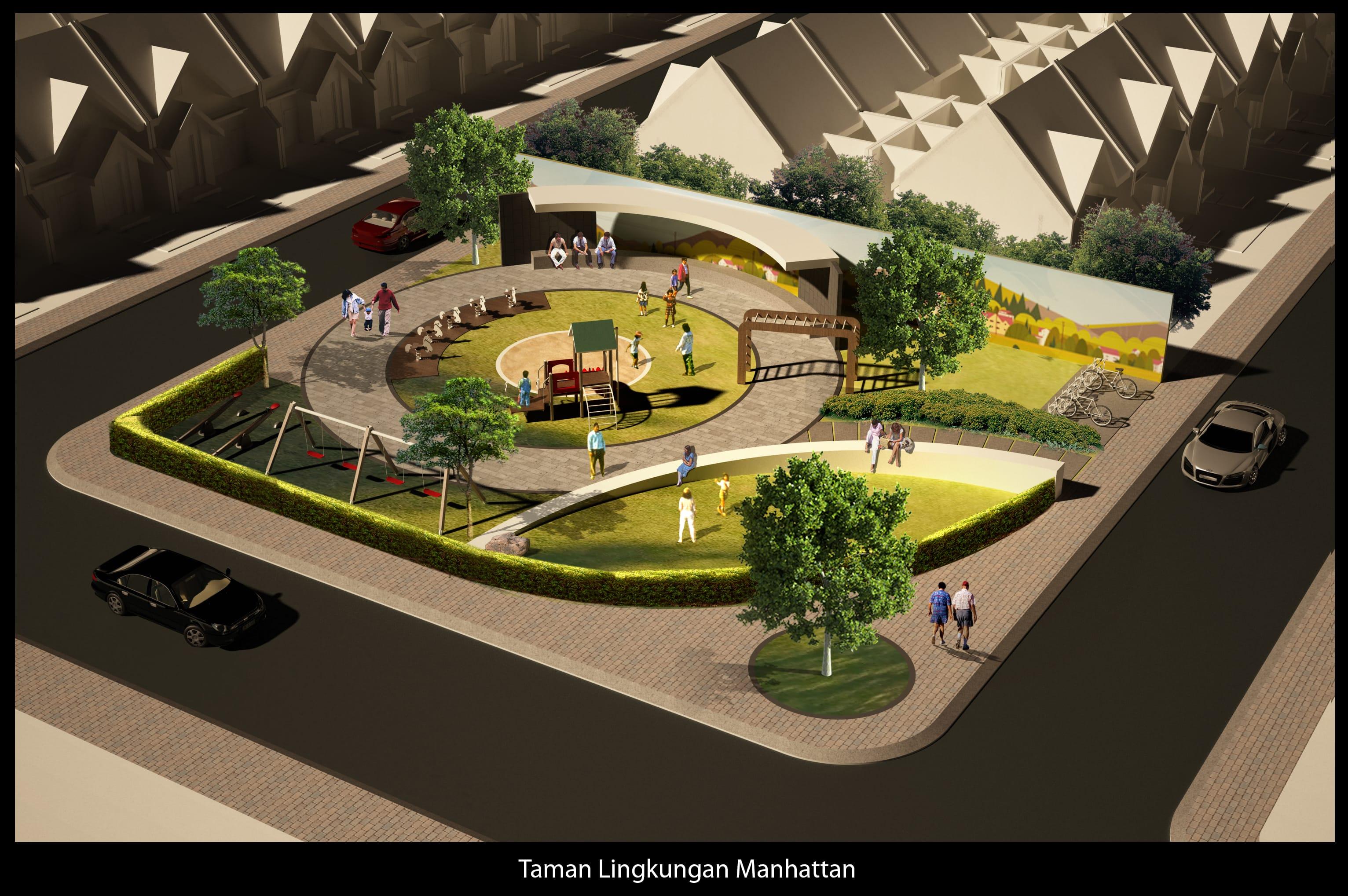 Grand Duta City revisi-taman-lingkungan-manhattan-1-
