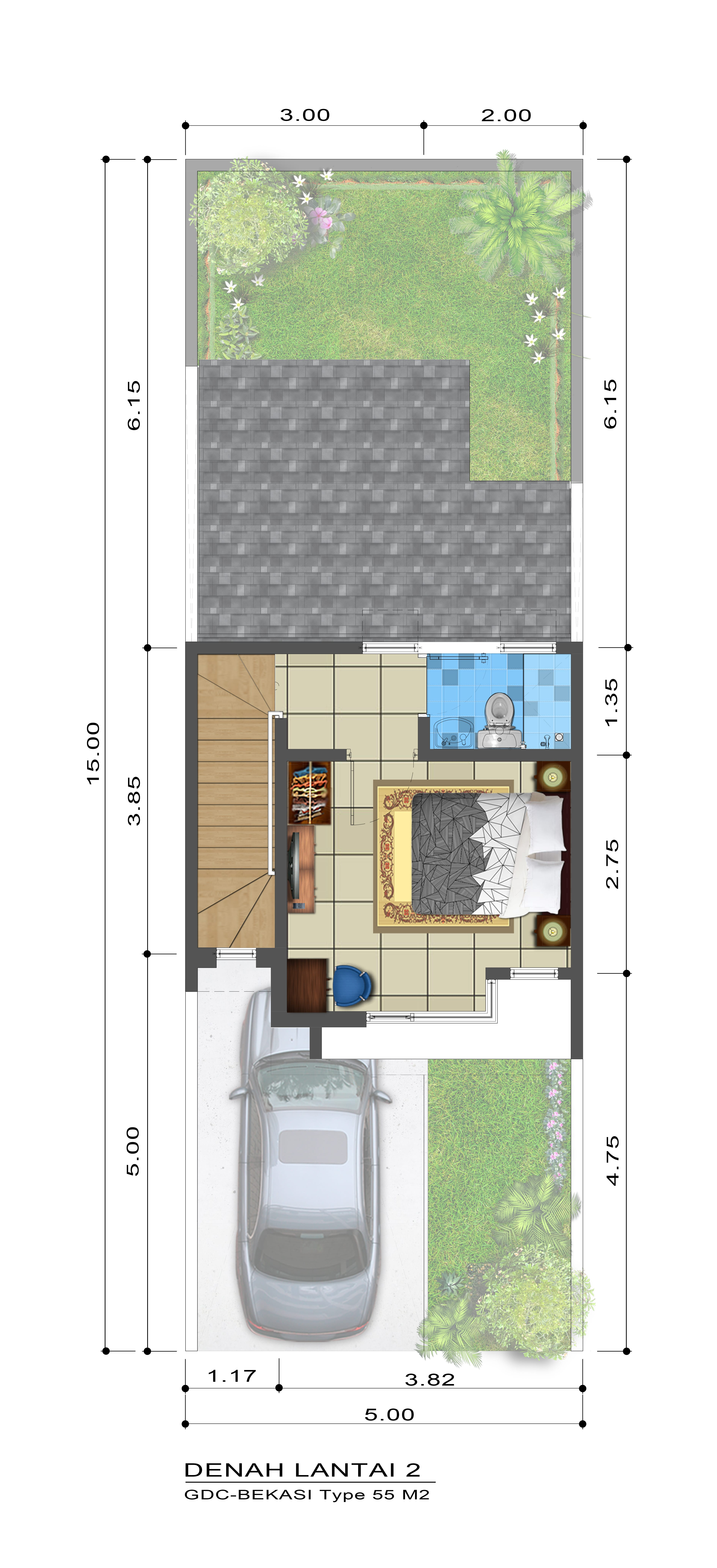 Grand Duta City Unit TIPE 58 HUDSON t58-2nd-floor