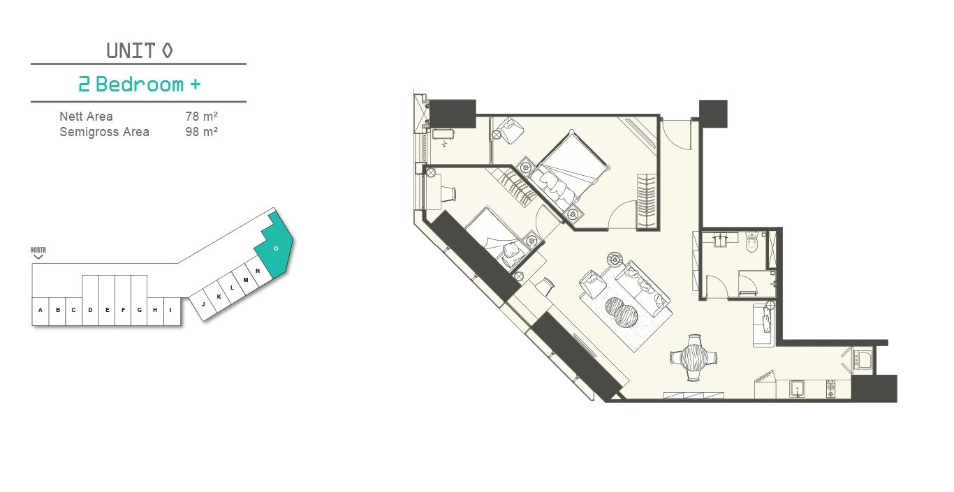 Southgate 2 Bedroom + (O)