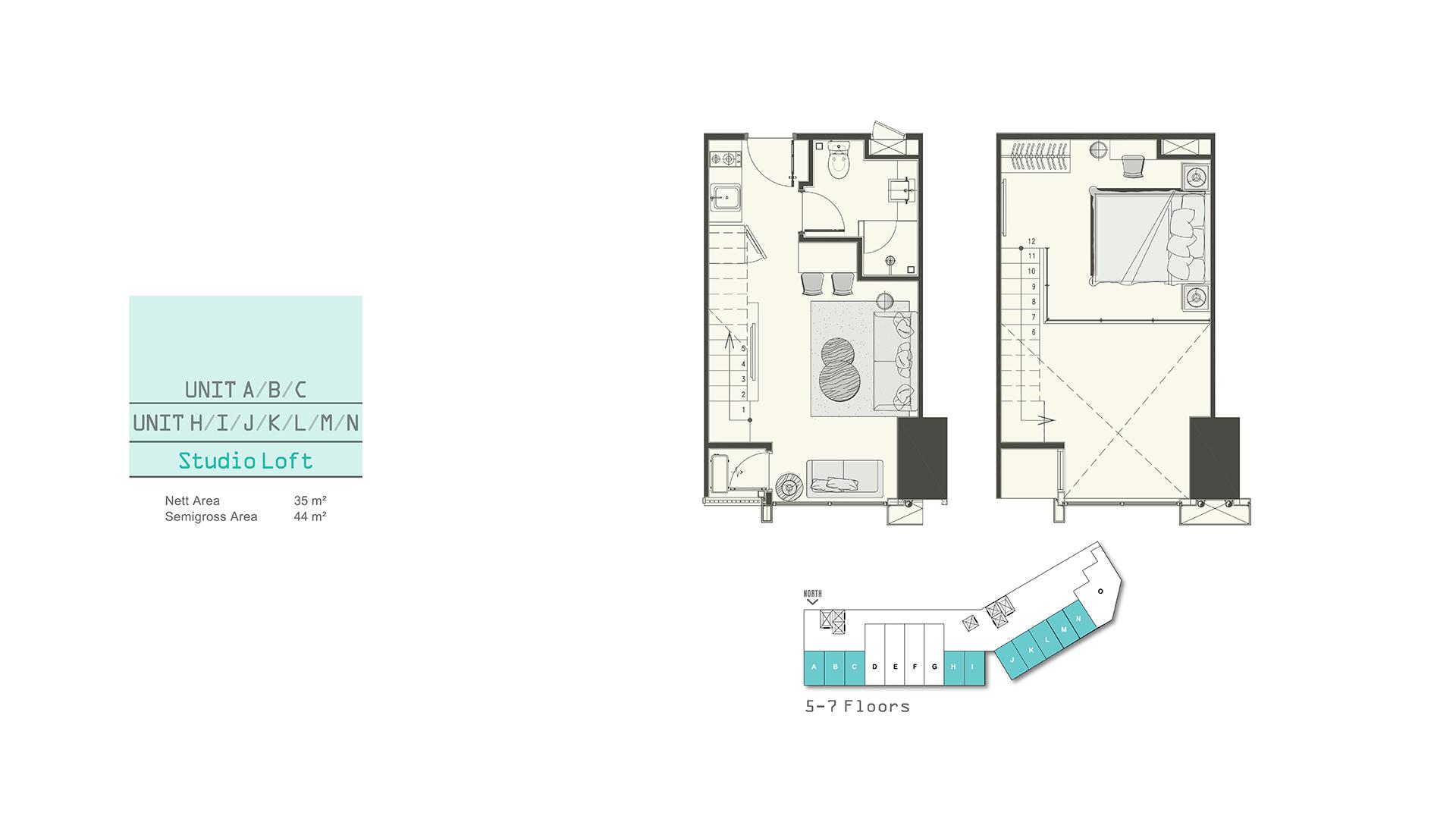 Southgate Studio Loft (A,H,I,K,L,M,N)