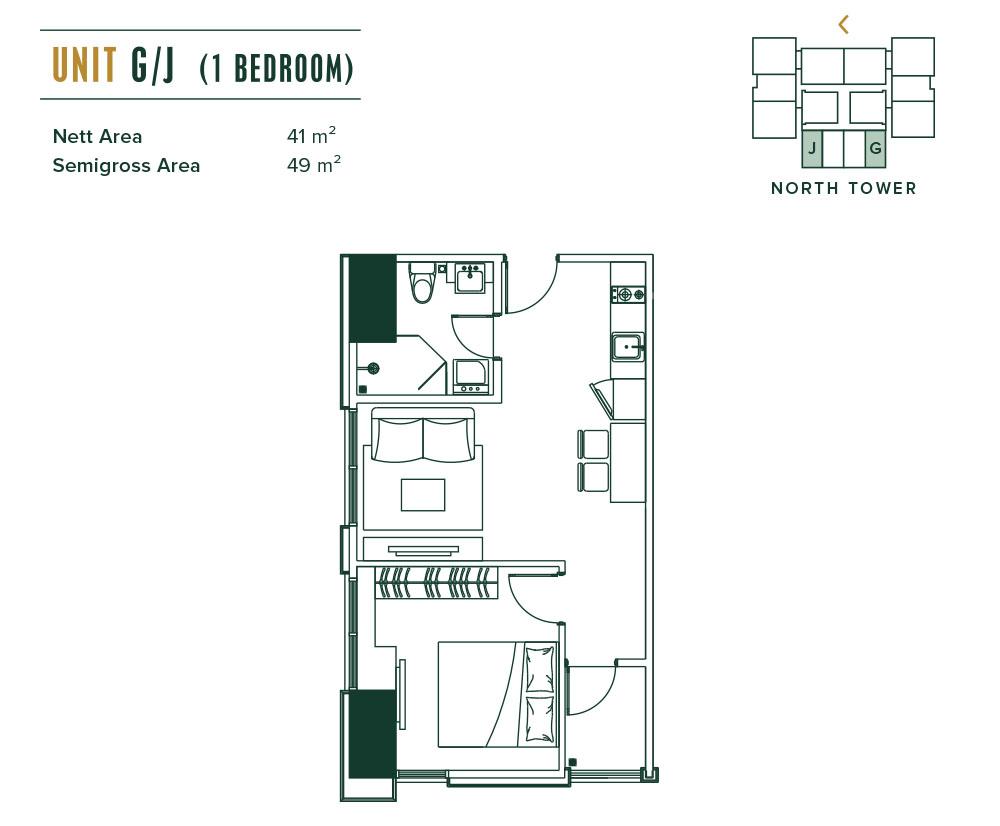 Southgate 1 Bedroom (G,H,I,J)