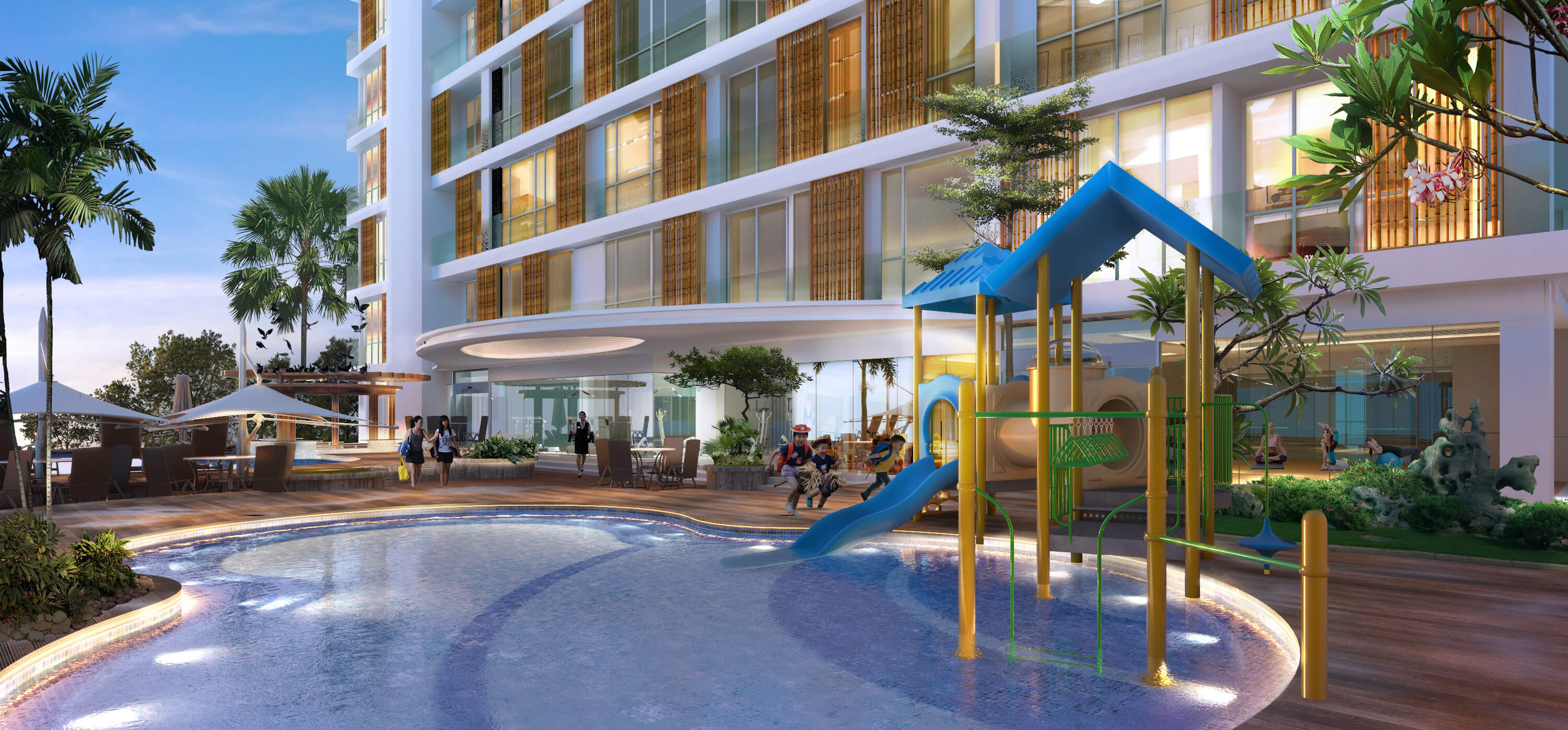 Norrington Suites Facilities Swimming Pool Kids Yoga Space