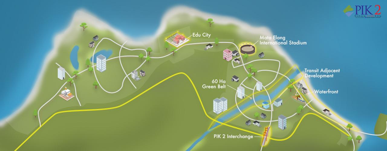 Pik2 - Peta Fasilitas