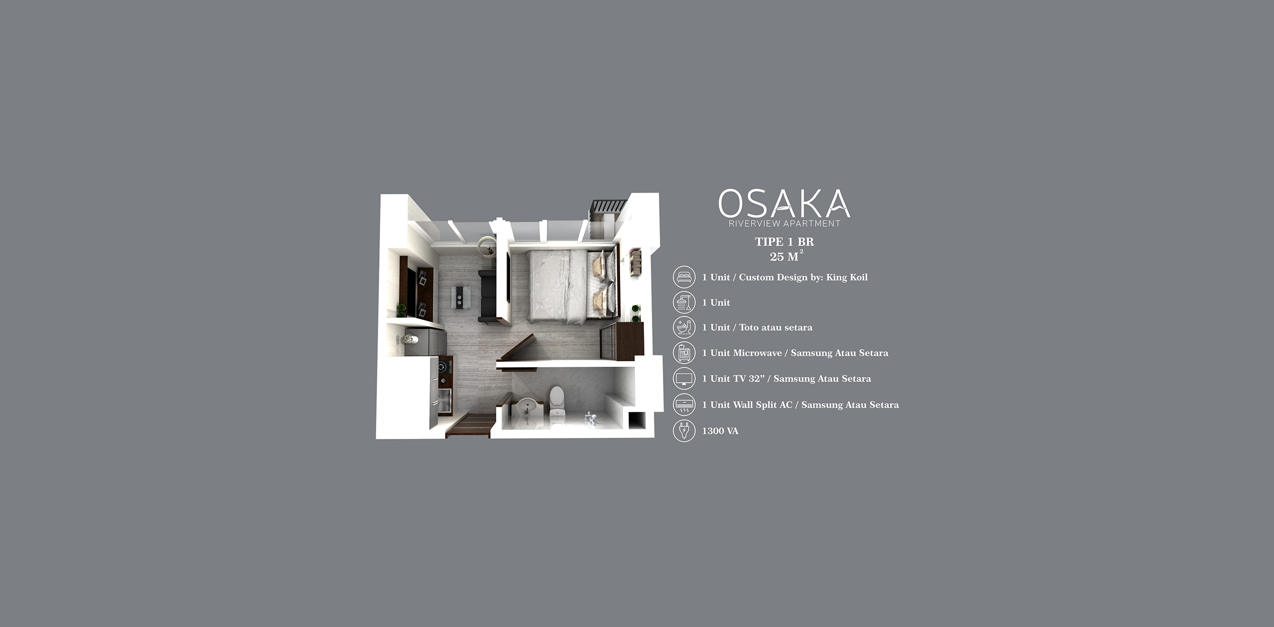 Pik2 - Osaka Riverview - 1BR