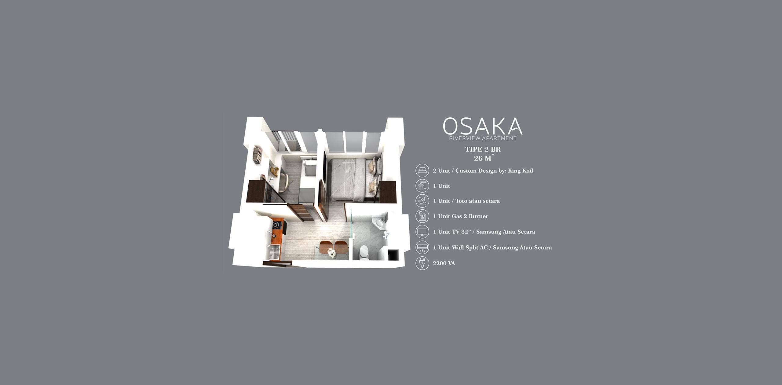 Pik2 - Osaka Riverview - 2BR