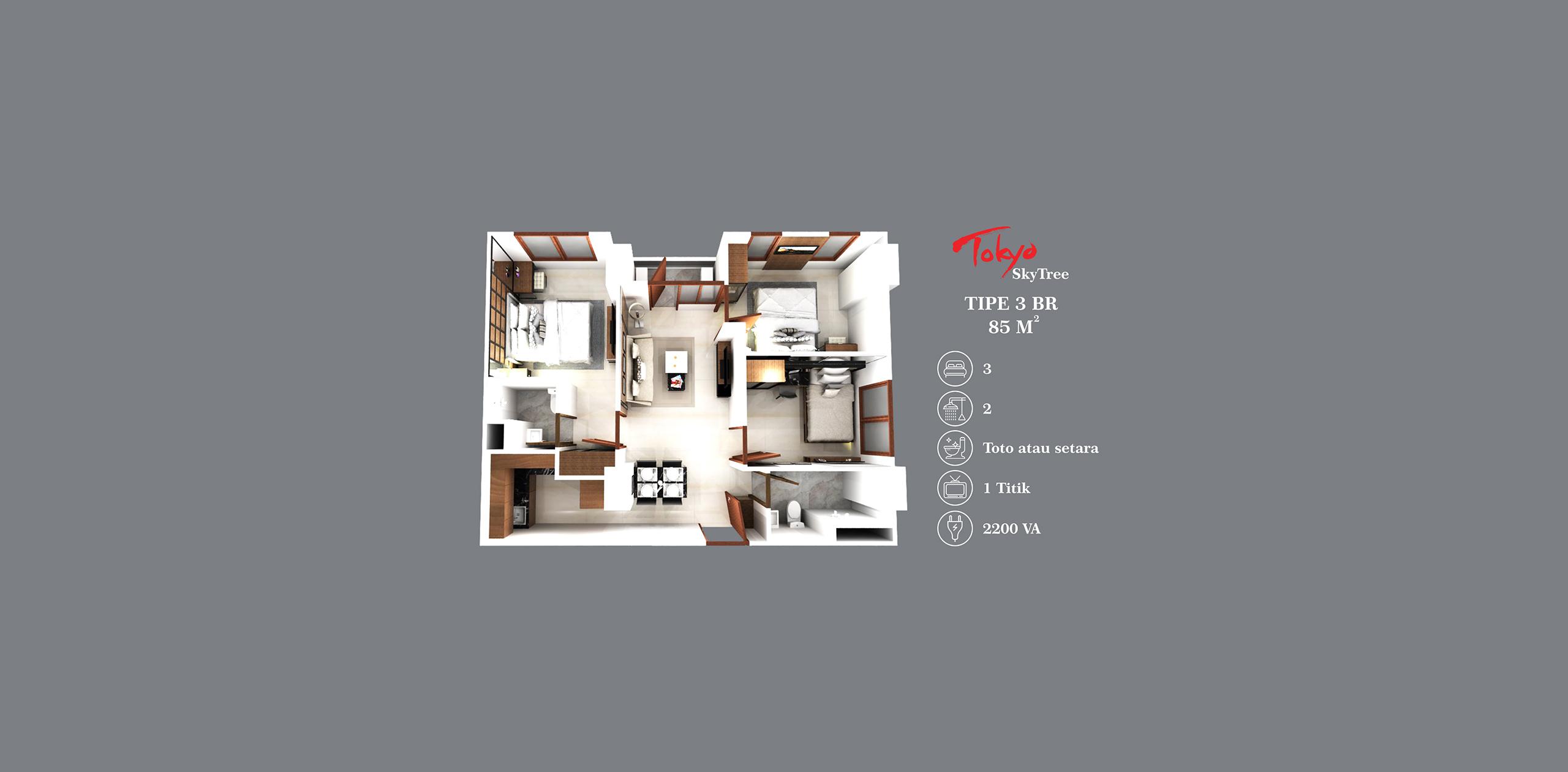 Pik2 - Tokyo Skytree - 3BR