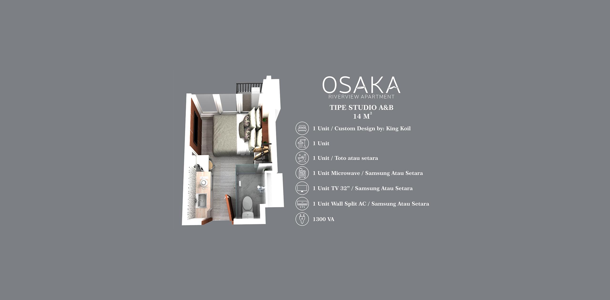 Pik2 - Osaka Riverview - Studio (14m)