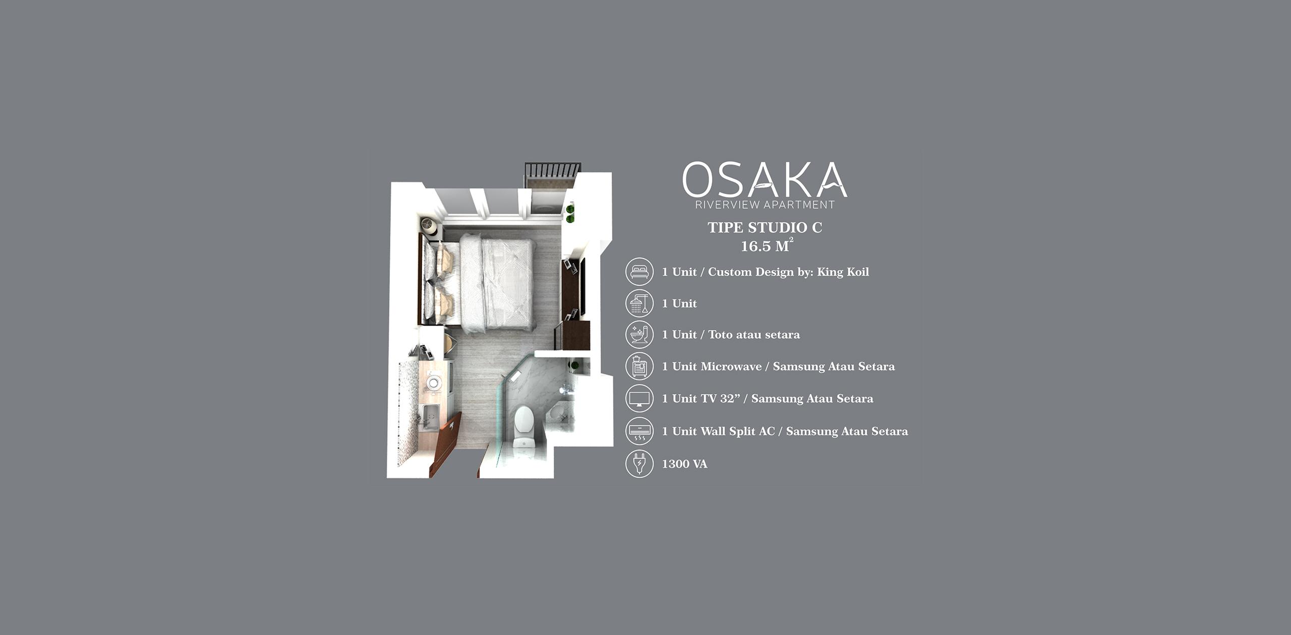 Pik2 - Osaka Riverview - Studio (16.5m)